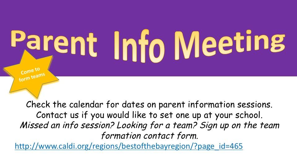 Parent Info Sessions