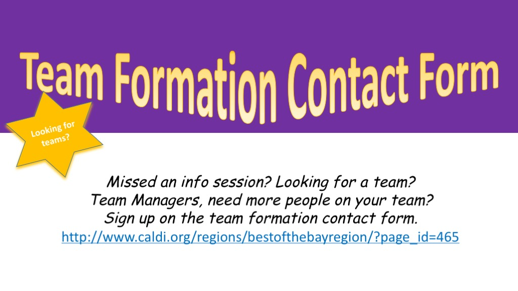 Team Formation Contact Form