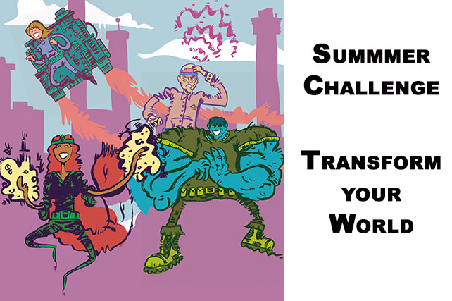 Summer Challenge for Teams!!  Unlikely Community Health Superheros